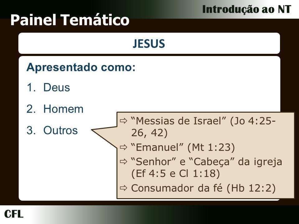 Painel Temático JESUS Apresentado como: Deus Homem Outros