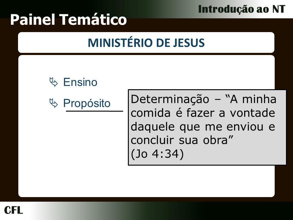 Painel Temático MINISTÉRIO DE JESUS Ensino Propósito