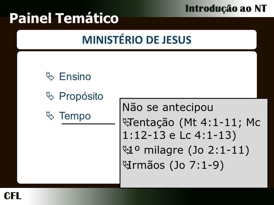Painel Temático MINISTÉRIO DE JESUS Ensino Propósito Tempo