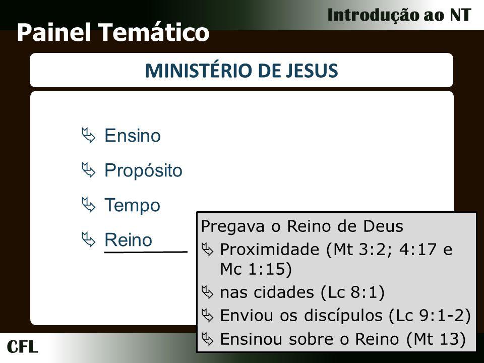 Painel Temático MINISTÉRIO DE JESUS Ensino Propósito Tempo Reino
