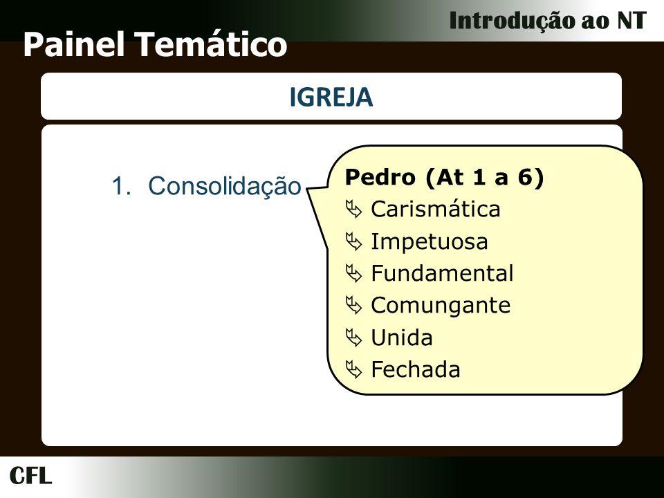 Painel Temático IGREJA Consolidação Pedro (At 1 a 6) Carismática