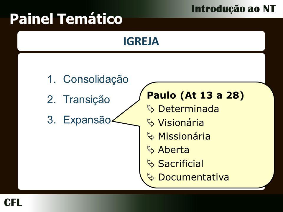 Painel Temático IGREJA Consolidação Transição Expansão