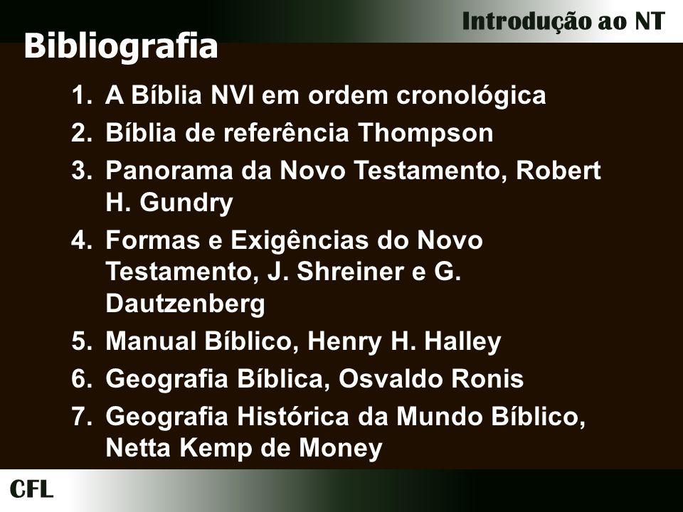 Bibliografia A Bíblia NVI em ordem cronológica