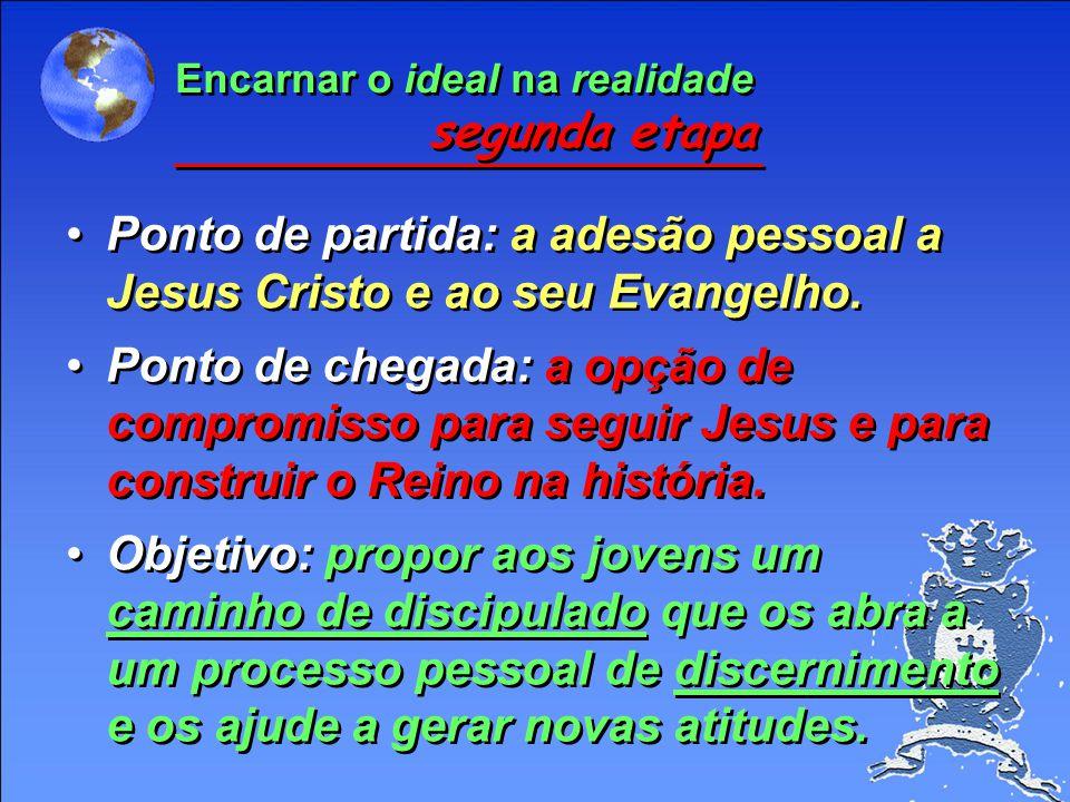 Ponto de partida: a adesão pessoal a Jesus Cristo e ao seu Evangelho.