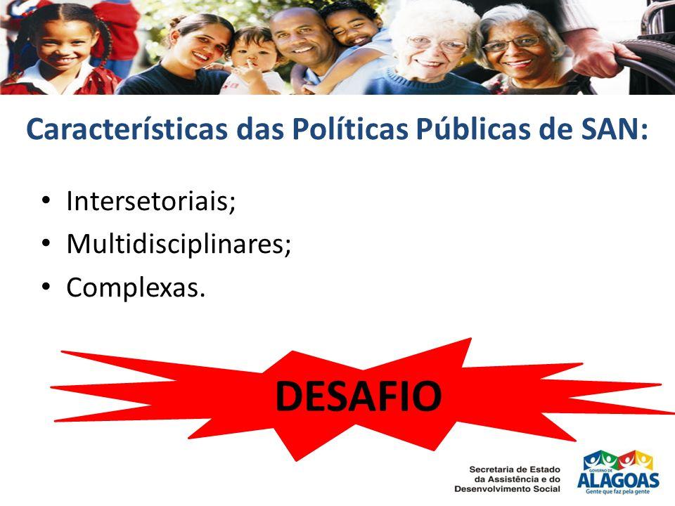 Características das Políticas Públicas de SAN: