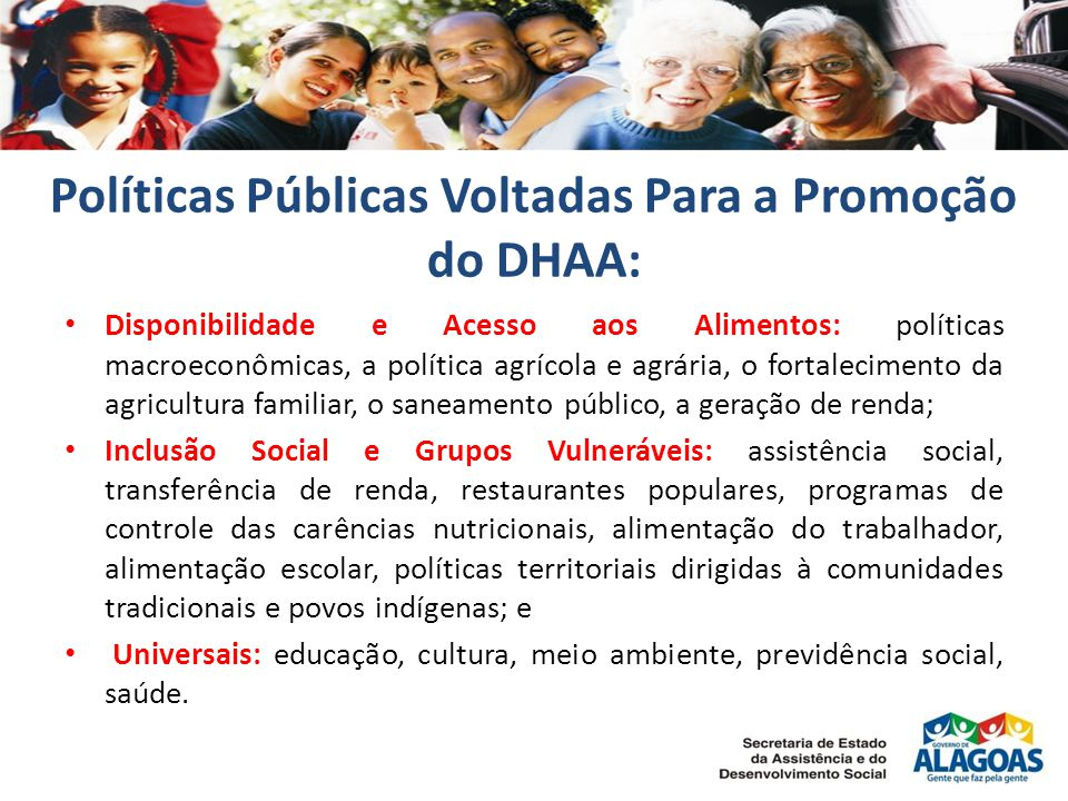 Políticas Públicas Voltadas Para a Promoção do DHAA: