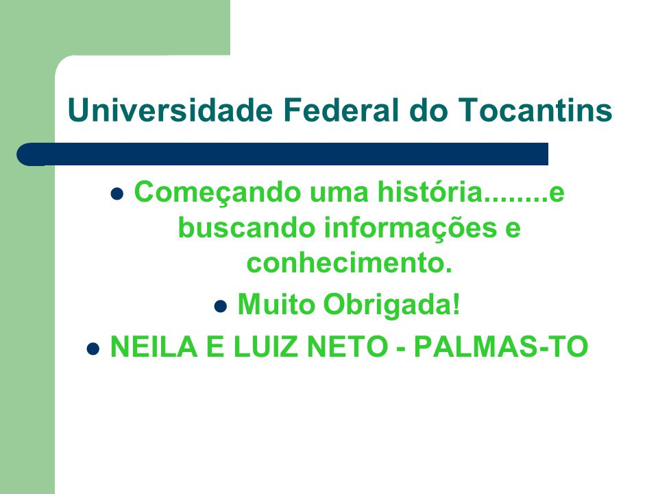 Universidade Federal do Tocantins