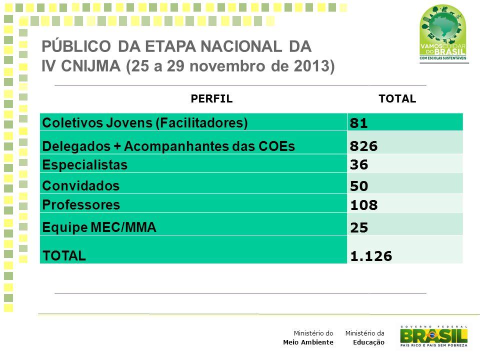 PÚBLICO DA ETAPA NACIONAL DA IV CNIJMA (25 a 29 novembro de 2013)