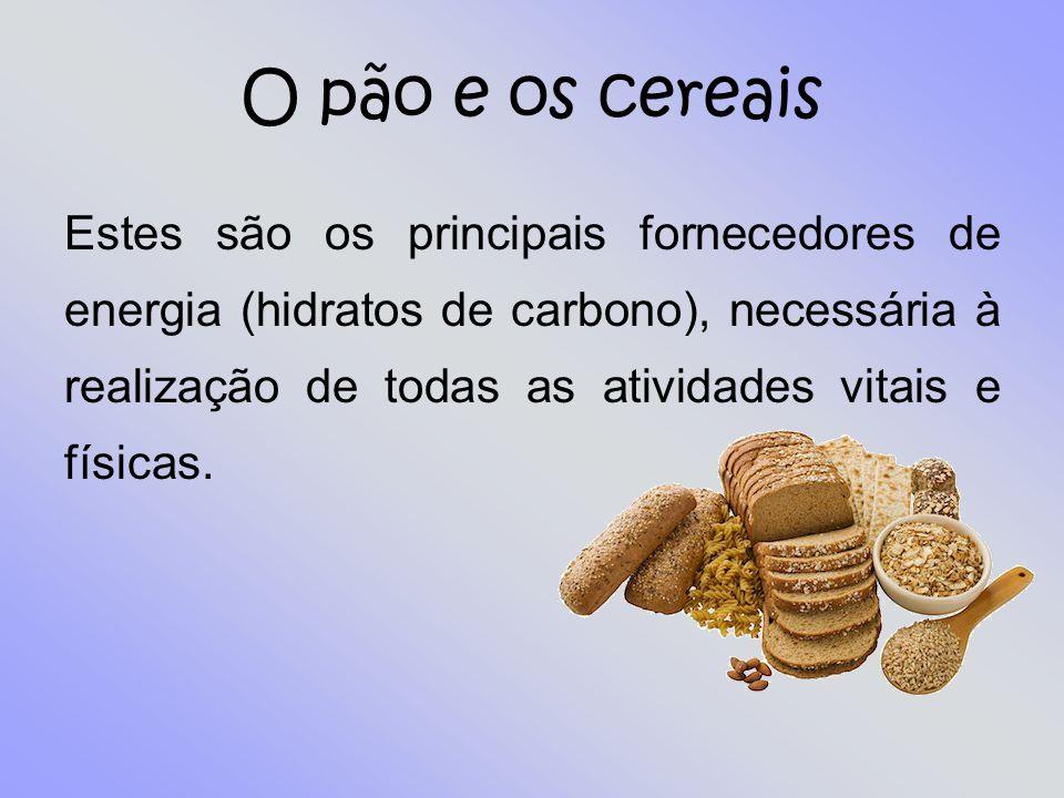 O pão e os cereais