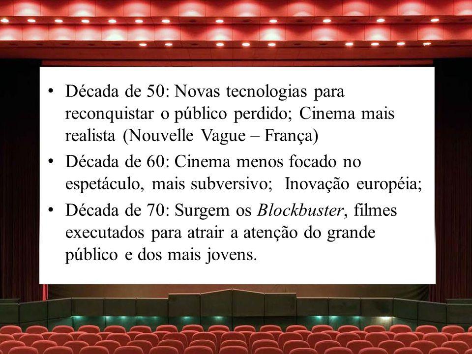 Década de 50: Novas tecnologias para reconquistar o público perdido; Cinema mais realista (Nouvelle Vague – França)