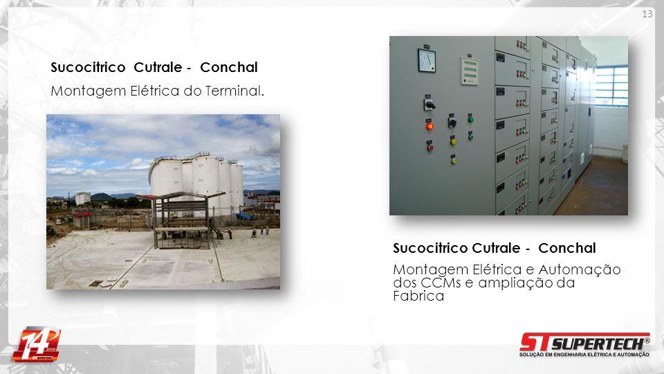 Sucocitrico Cutrale - Conchal Montagem Elétrica do Terminal.