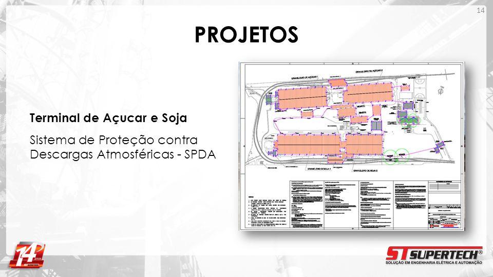 PROJETOS Terminal de Açucar e Soja Sistema de Proteção contra Descargas Atmosféricas - SPDA