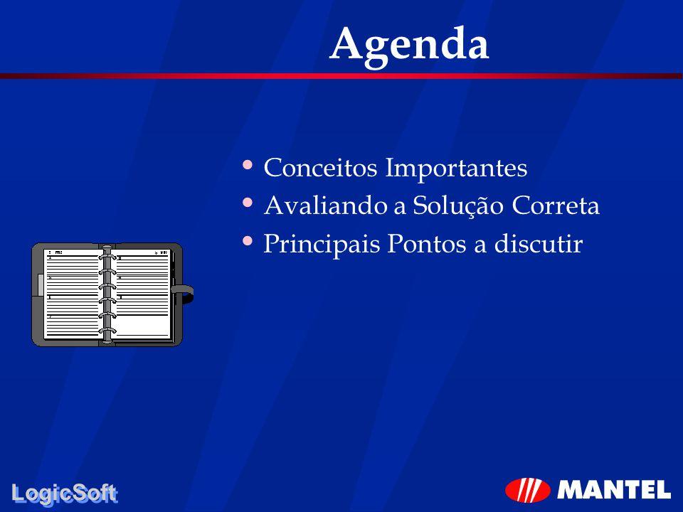 Agenda Conceitos Importantes Avaliando a Solução Correta