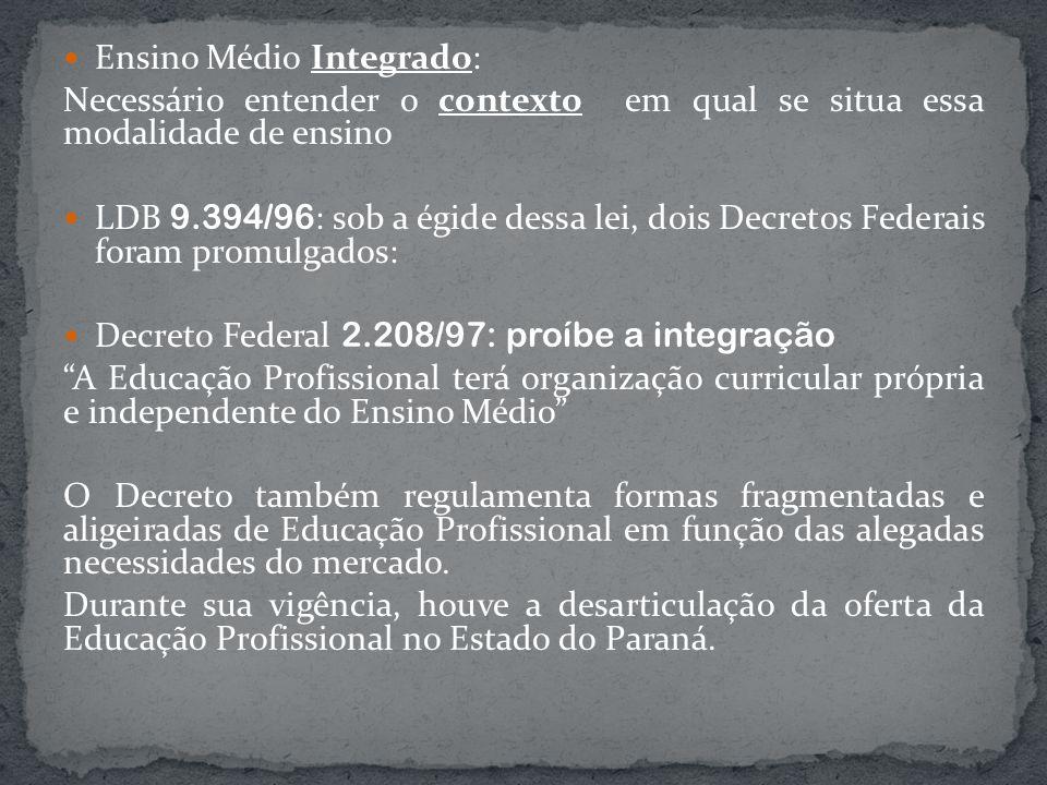 Ensino Médio Integrado: