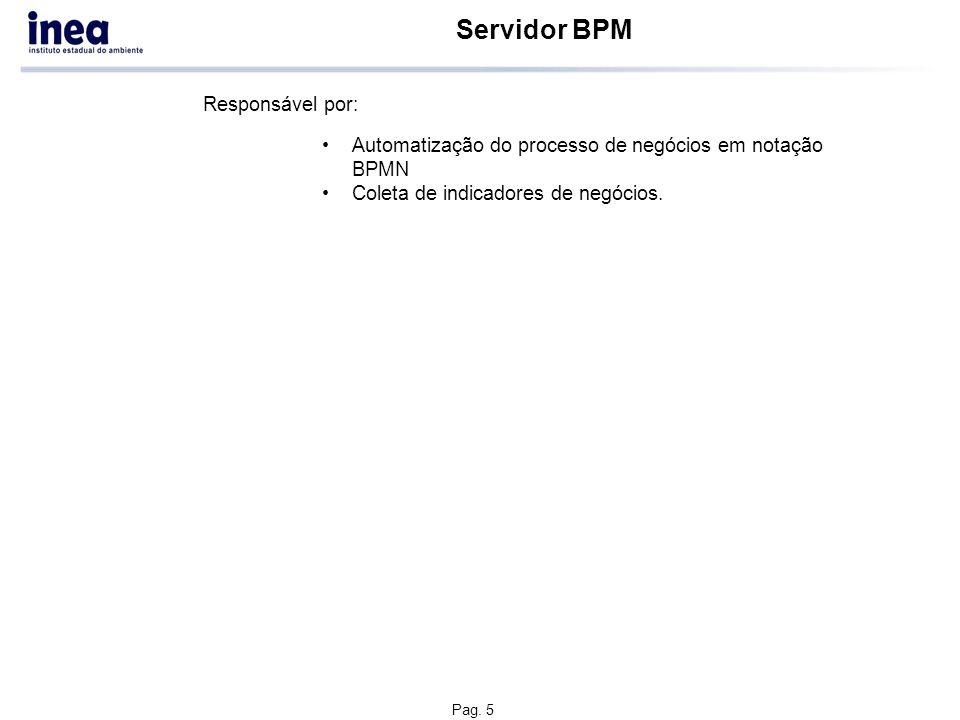 Servidor SOA Responsável por: Execução em BPEL para integrações