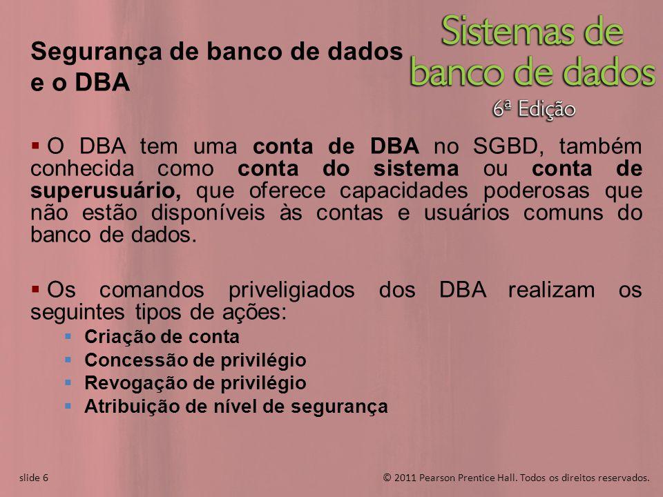 Segurança de banco de dados e o DBA