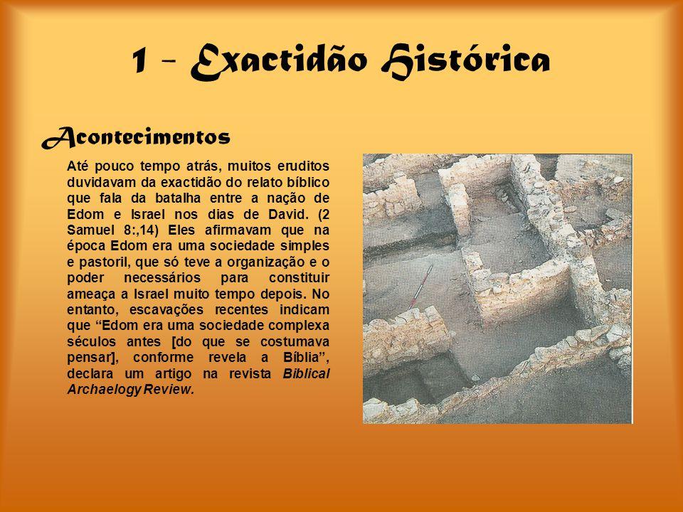 1 - Exactidão Histórica Acontecimentos