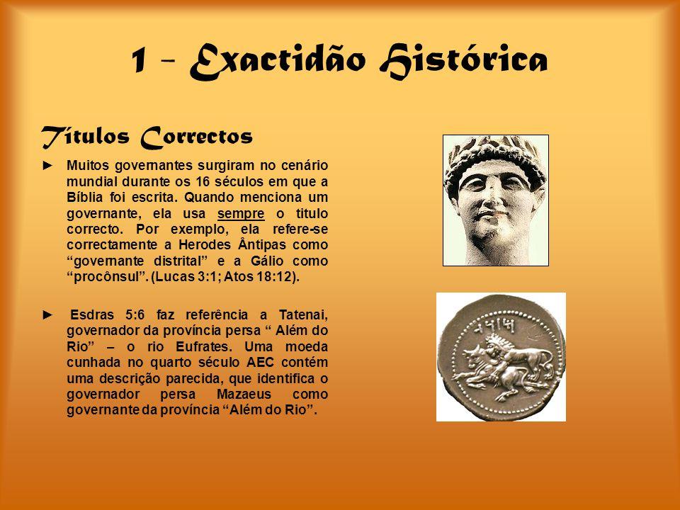 1 - Exactidão Histórica Títulos Correctos