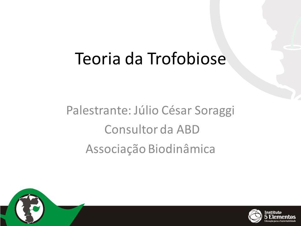 Teoria da Trofobiose Palestrante: Júlio César Soraggi Consultor da ABD