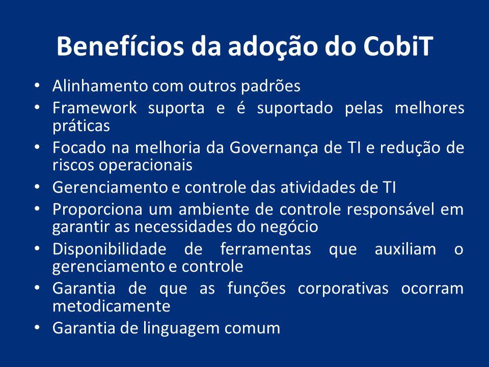 Benefícios da adoção do CobiT
