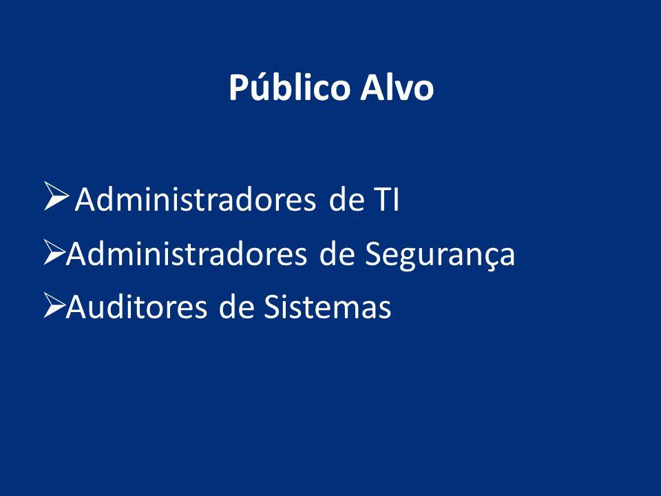 Administradores de TI Público Alvo Administradores de Segurança