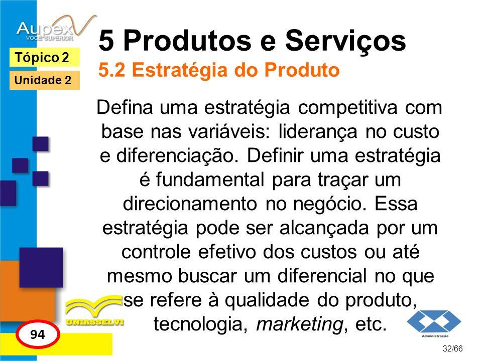 5 Produtos e Serviços 5.2 Estratégia do Produto