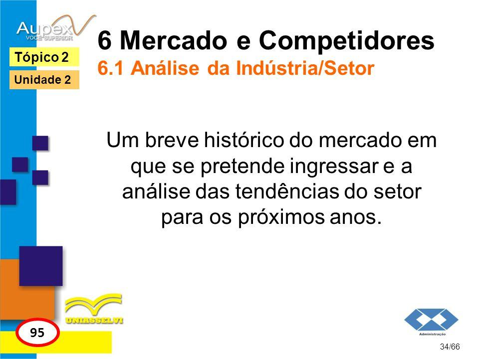 6 Mercado e Competidores 6.1 Análise da Indústria/Setor