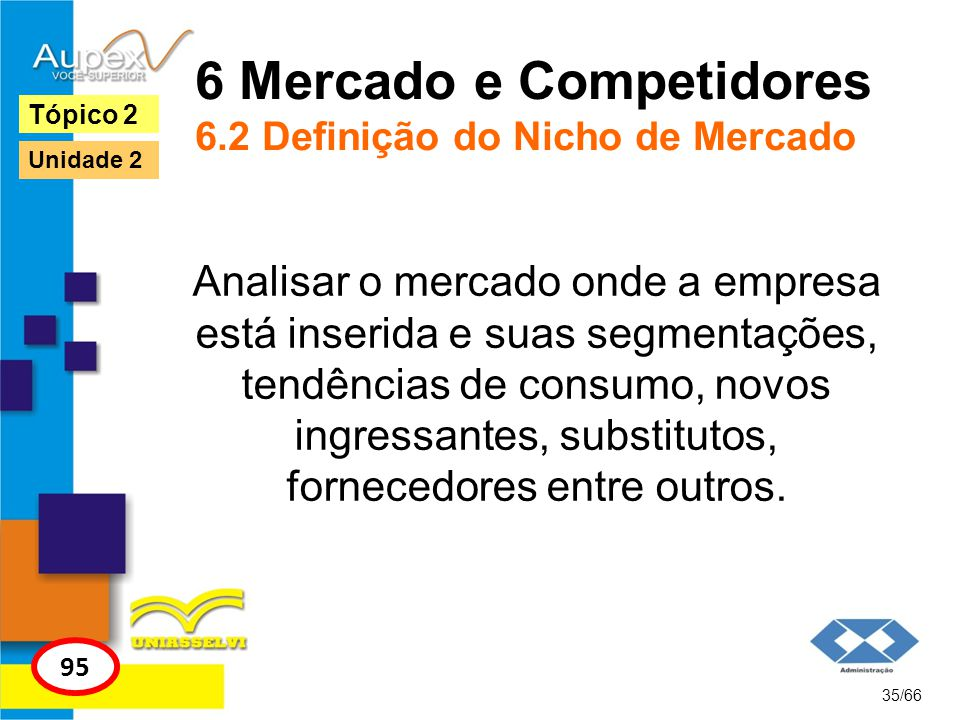 6 Mercado e Competidores 6.2 Definição do Nicho de Mercado