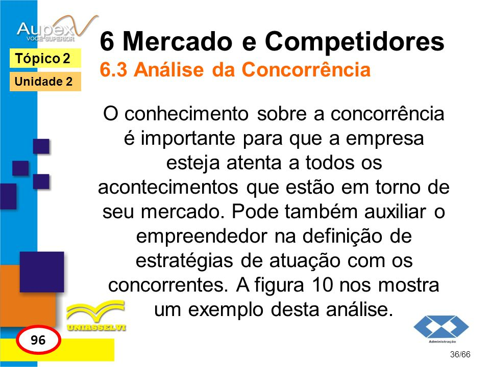 6 Mercado e Competidores 6.3 Análise da Concorrência
