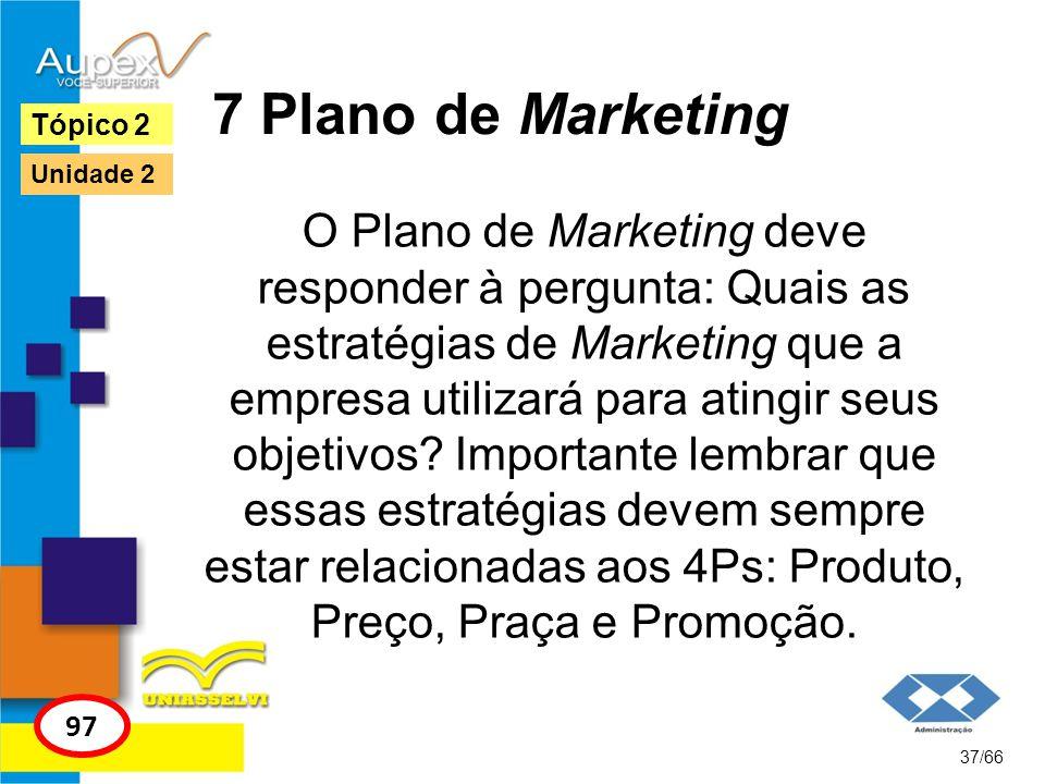 7 Plano de Marketing Tópico 2. Unidade 2.