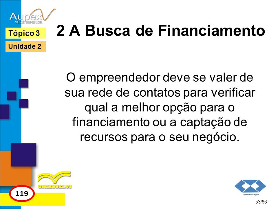 2 A Busca de Financiamento