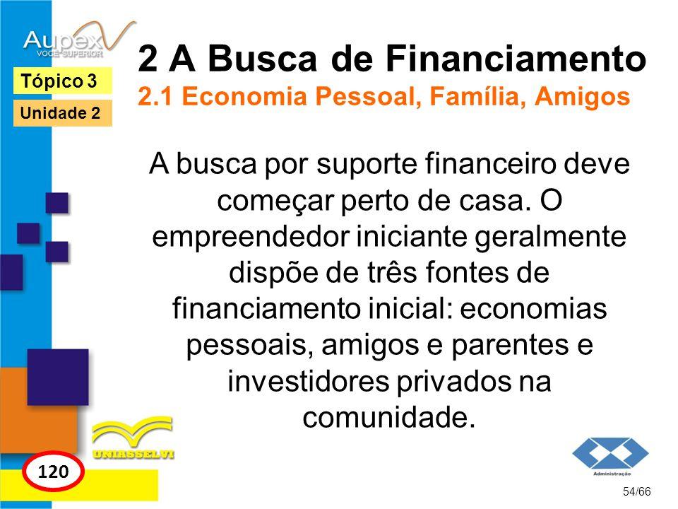 2 A Busca de Financiamento 2.1 Economia Pessoal, Família, Amigos