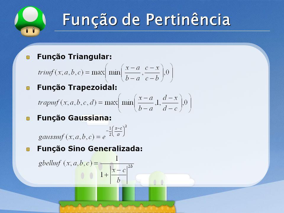 Função de Pertinência Função Triangular: Função Trapezoidal: