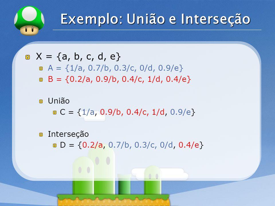 Exemplo: União e Interseção
