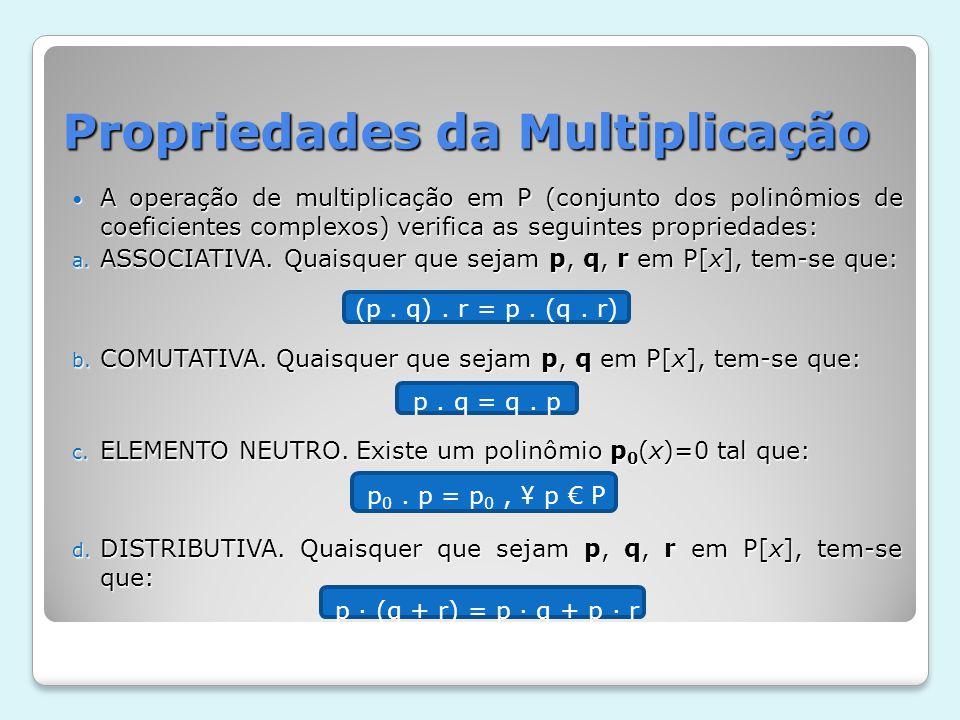 Propriedades da Multiplicação