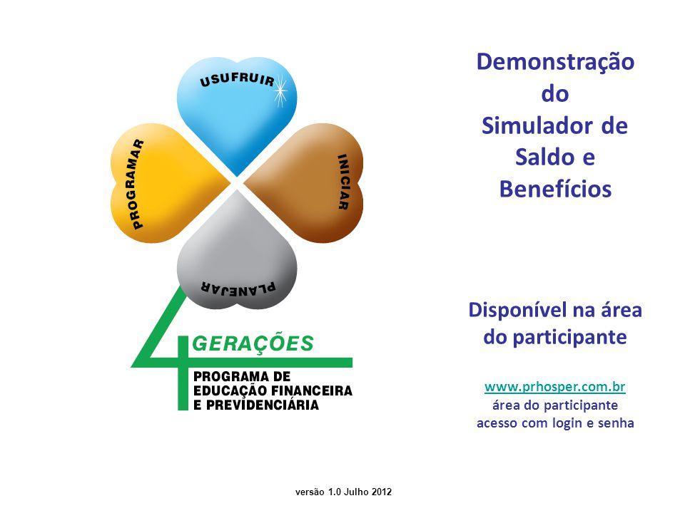 Demonstração do Simulador de Saldo e Benefícios