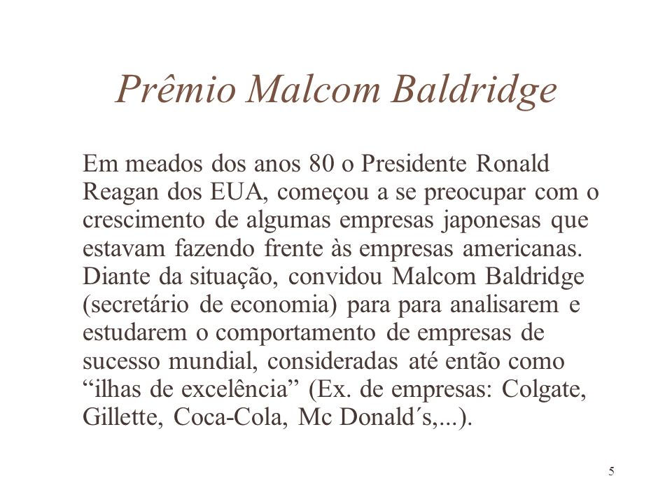 Prêmio Malcom Baldridge