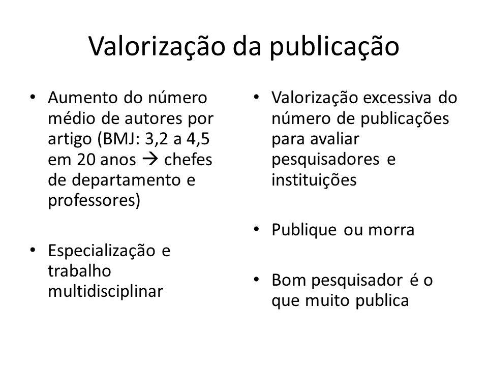 Valorização da publicação