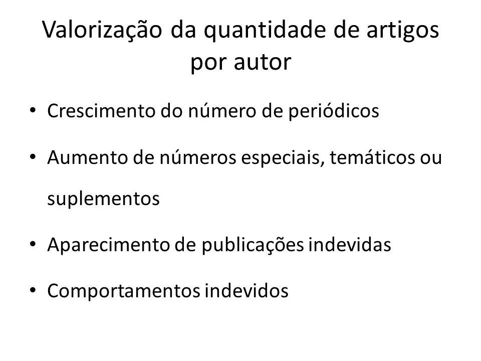 Valorização da quantidade de artigos por autor