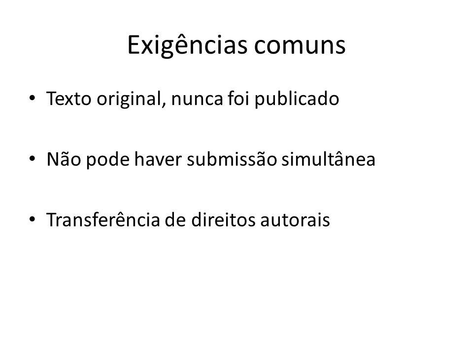 Exigências comuns Texto original, nunca foi publicado