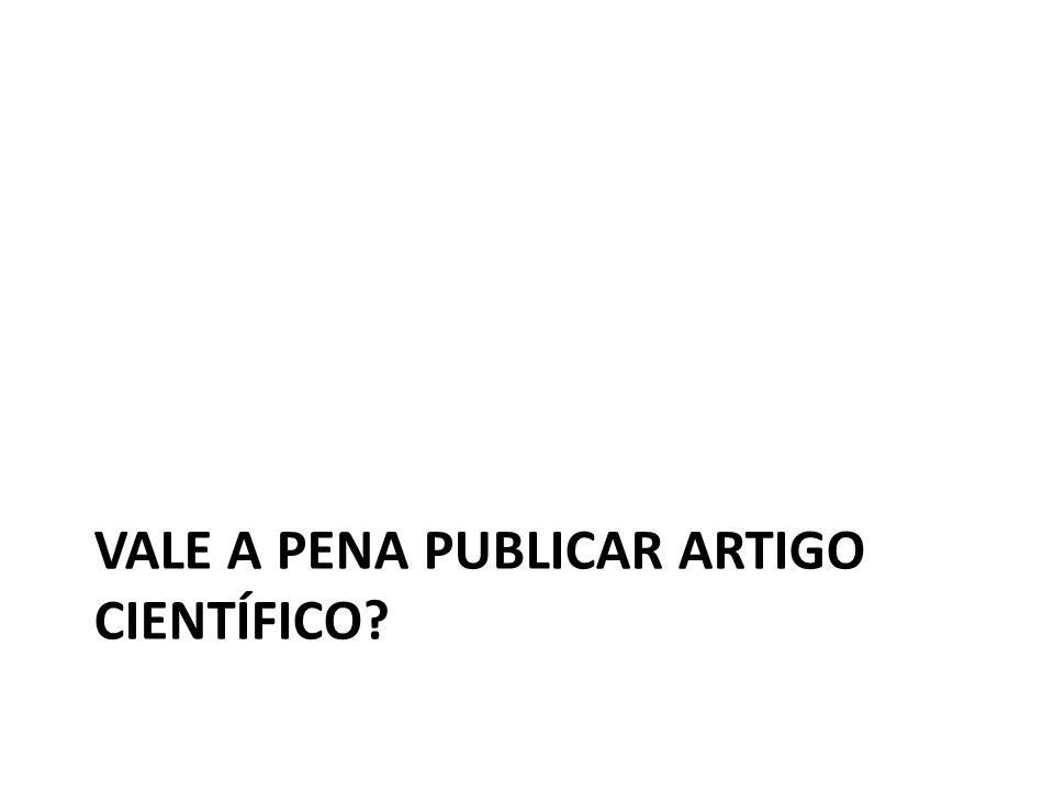 Vale a pena publicar artigo científico