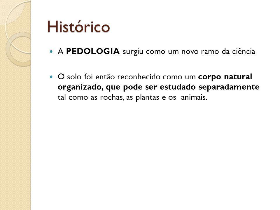 Histórico A PEDOLOGIA surgiu como um novo ramo da ciência