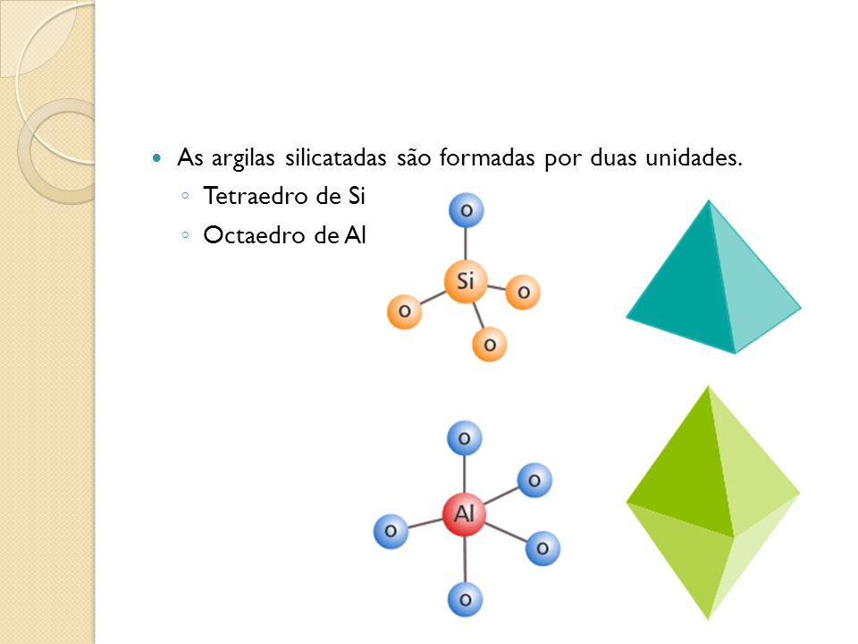 As argilas silicatadas são formadas por duas unidades.