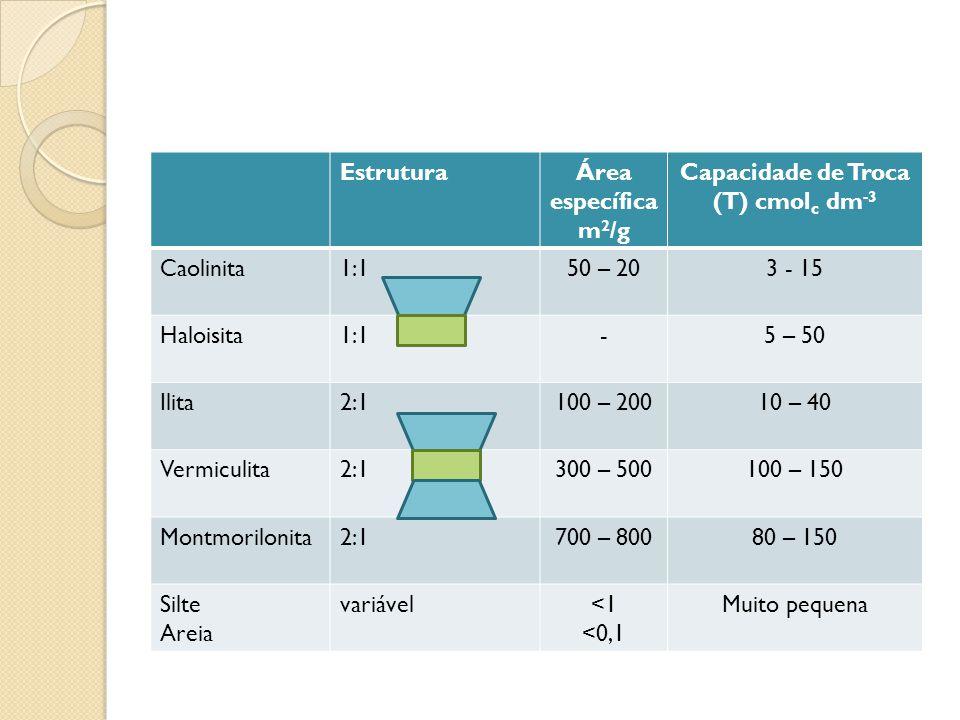 Capacidade de Troca (T) cmolc dm-3