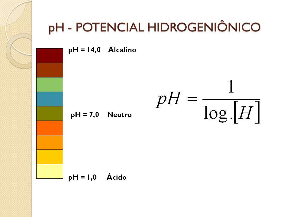 pH - POTENCIAL HIDROGENIÔNICO