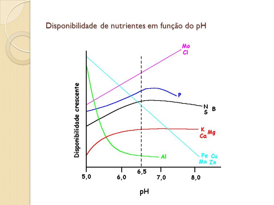 Disponibilidade de nutrientes em função do pH
