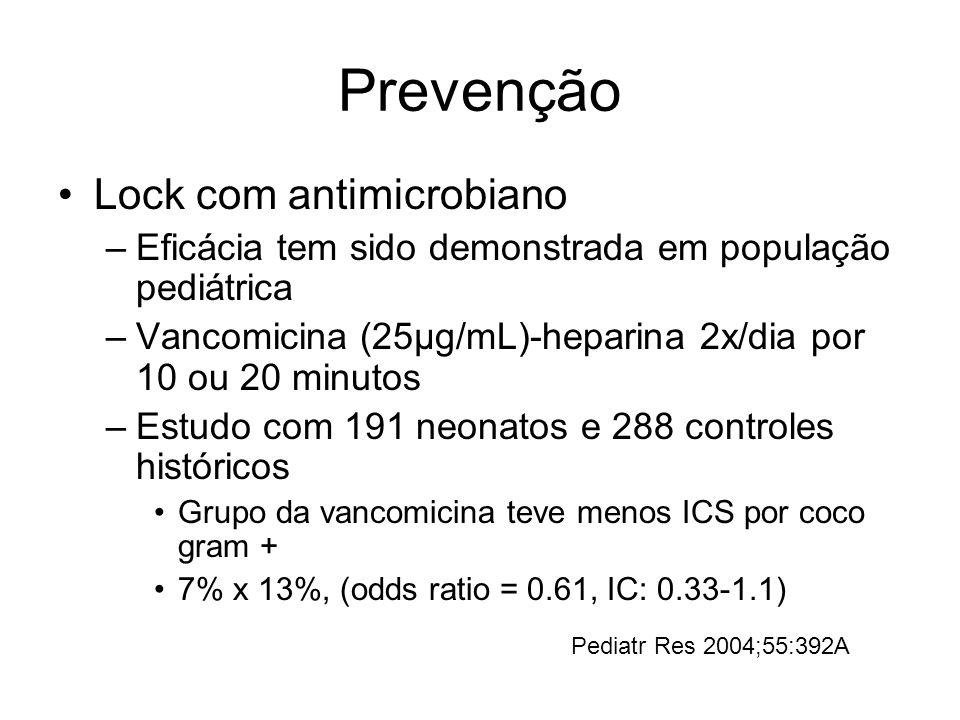Prevenção Lock com antimicrobiano