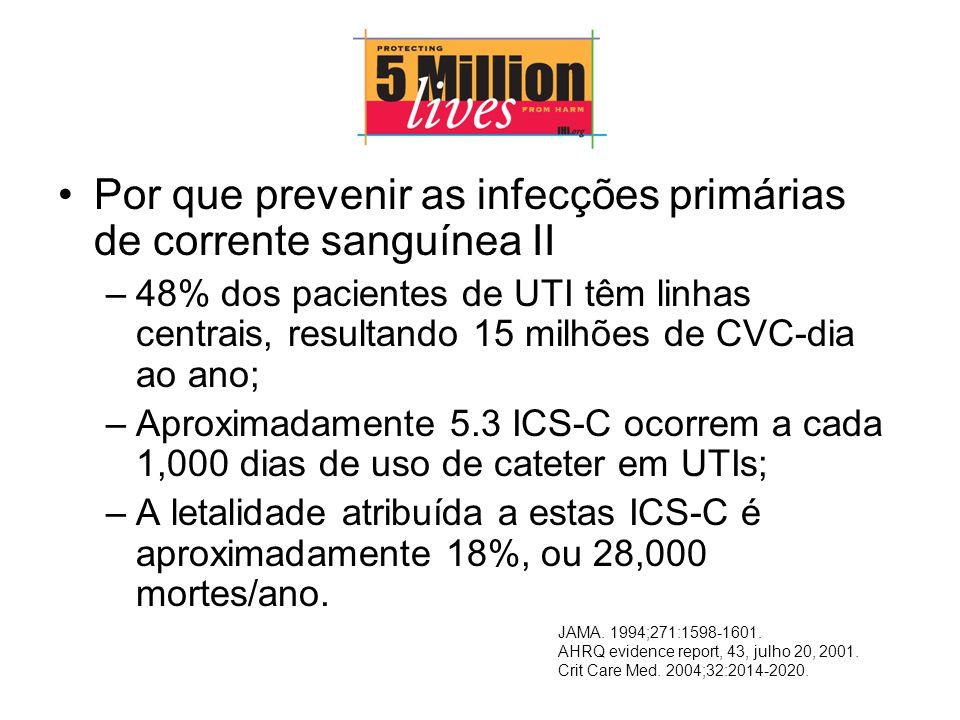 Por que prevenir as infecções primárias de corrente sanguínea II