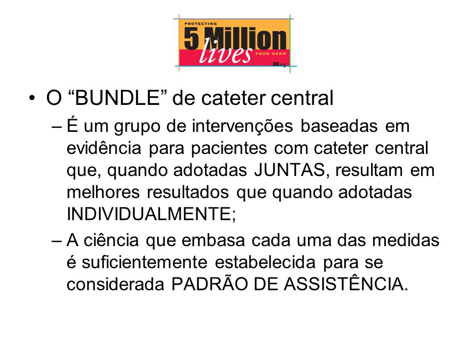 O BUNDLE de cateter central