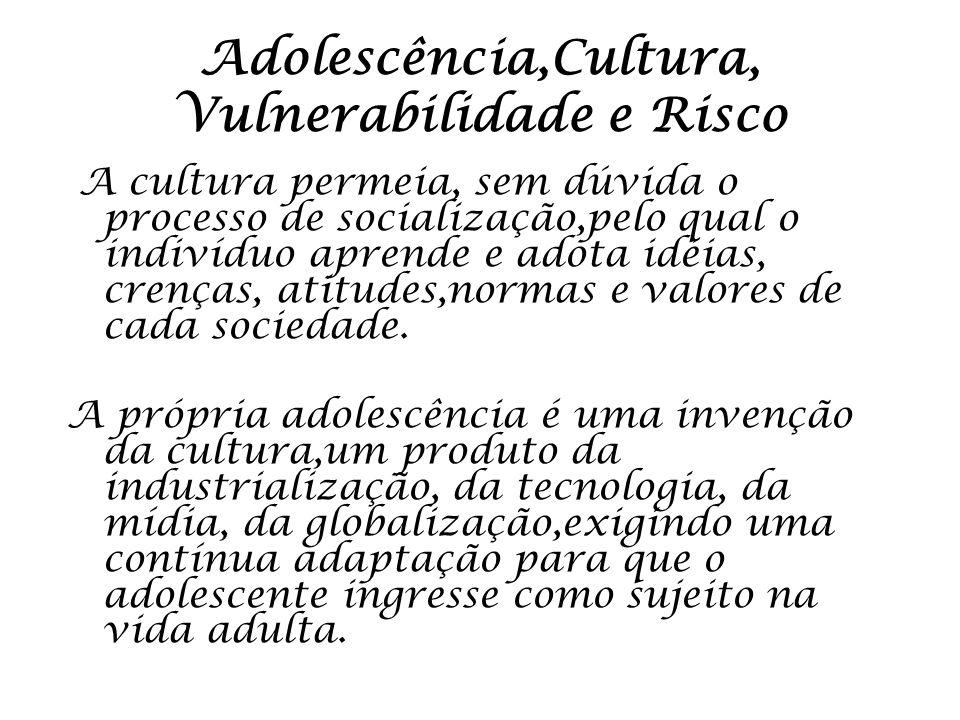 Adolescência,Cultura, Vulnerabilidade e Risco
